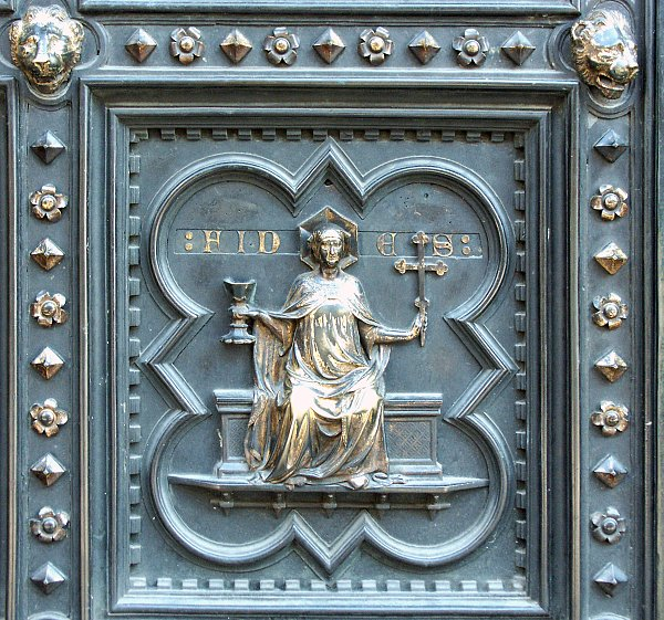 Images of the south doors by Andrea Pisano Florence Baptistry Florence Italy Digital Imaging