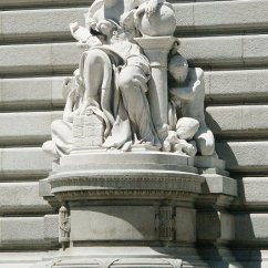 Double High Chair Swivel Without Wheels Images Of Commerce And Jurisprudence By Daniel Chester French