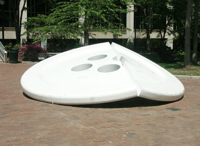 Images of Split Button by Claes Oldenburg