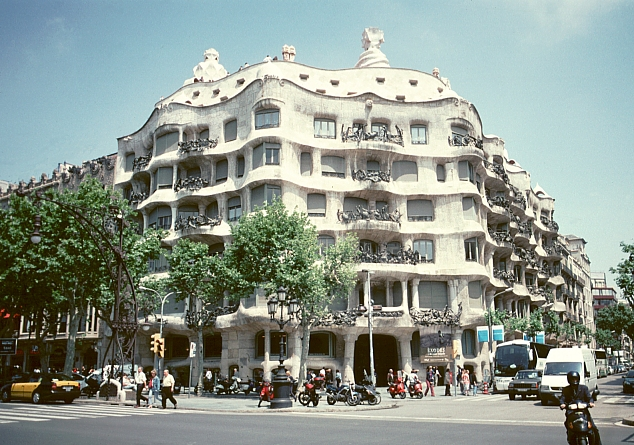 Casa Mila La Pedrera by Antoni Gaudi
