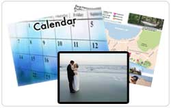 Calendar, Walking Tour, and Web Cam