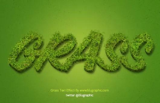 Grass Text Effect Action (Psd / Atn)