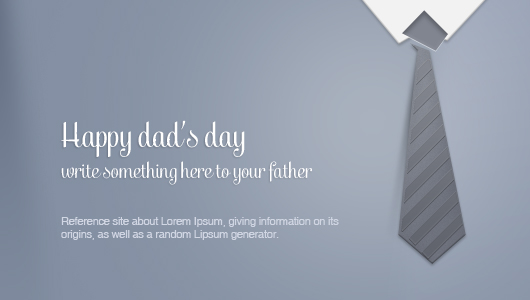Father's Day Greeting Card Psd