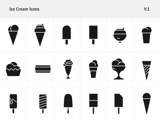 Ice Cream Icons Vector  Psd