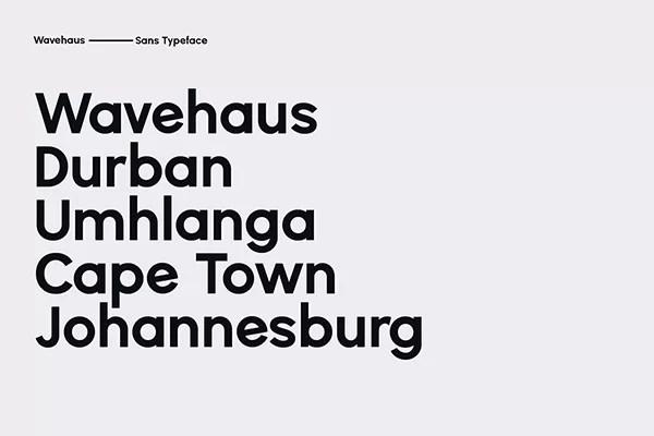 Wavehaus Sans Geometric Font