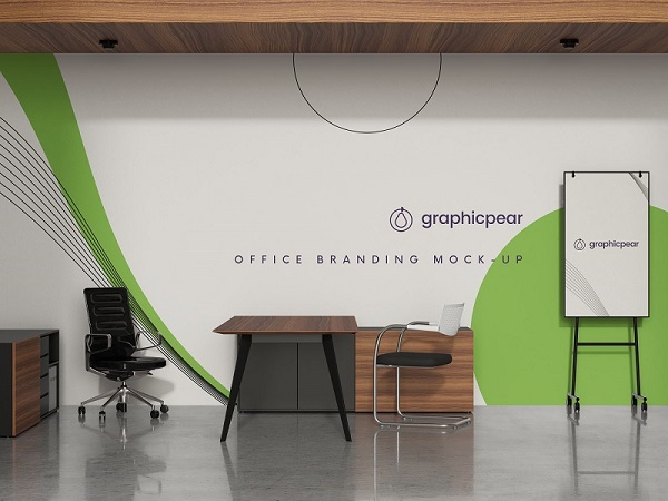 Use the smart layers to place your design and every object is movable and toggled on/off. 33 Office Interior Mockup Free Download Png
