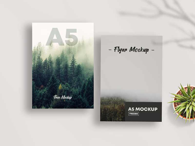 Free psd mockup file consists of smart objects. A5 Flyer Mockup