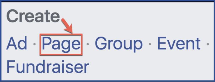 Create FB Page