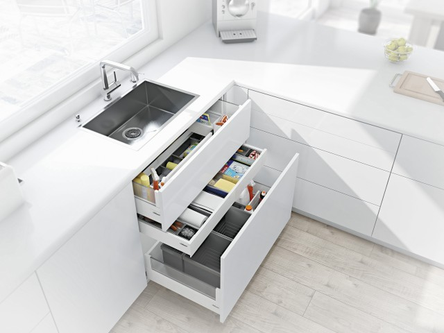 blum kitchen bins swinging doors 窄水槽抽 blum厨房垃圾箱