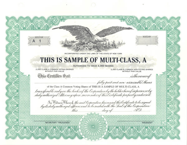 It is a picture of Printable Stock Certificate in bank certificate