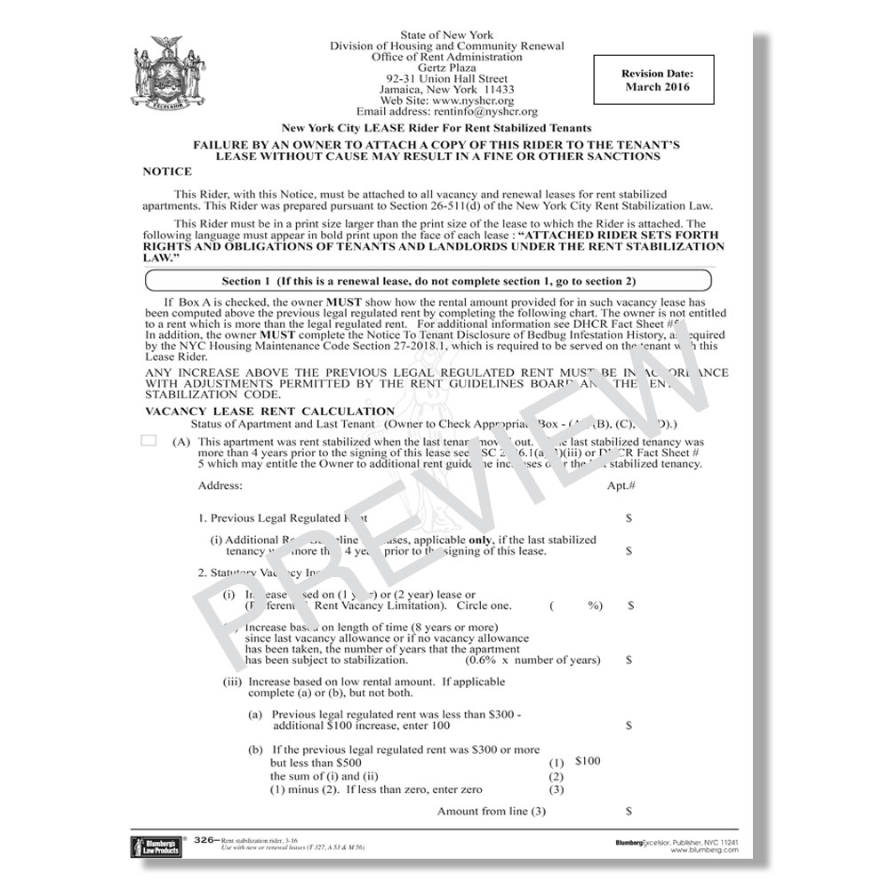 Dhcr Lease Renewal Form