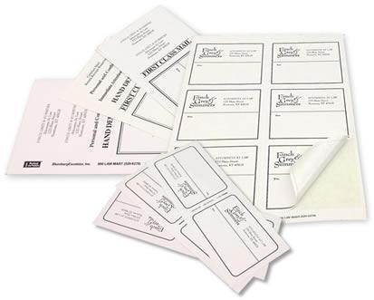 Custom Printed Pressure Sensitive Mailing Labels