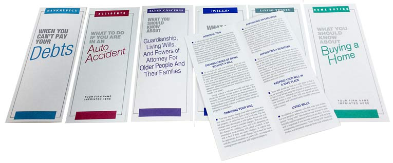 Law Firm Marketing Brochures and Pamphlets