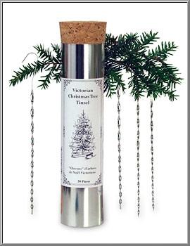 Christmas Shop Victorian Tin Twist Icicles Tree Tinsel