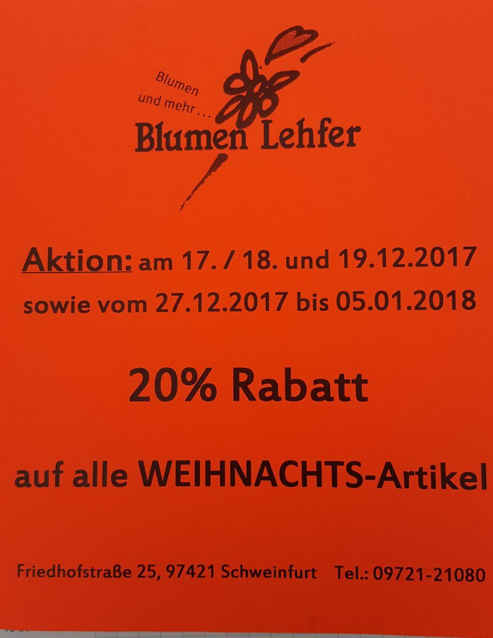 Blumen Lehfer  Schweinfurt  Floristik Gestecke Geschenke