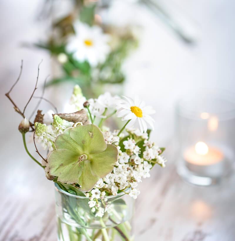 Tischdekoration  Blumen Lehner