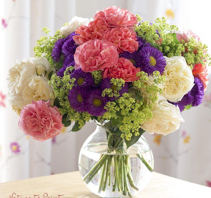 Frische Blumen fr die Vase arrangieren oder binden  Leben mit Blumen