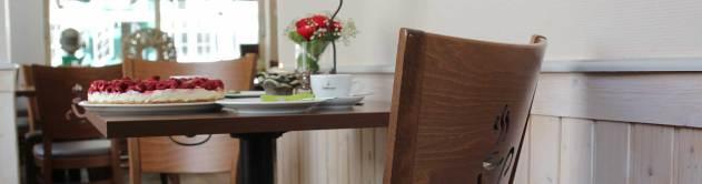 Das Blumenhaus-Café in Friedrichstadt ist auch eine Ausstellung