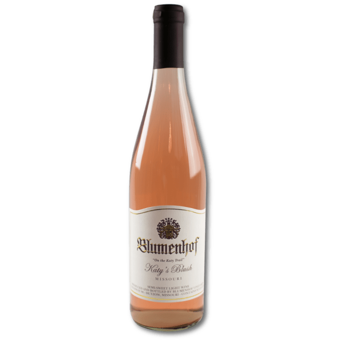 Katy's Blush - Semi Dry Wine at Blumenhof Winery