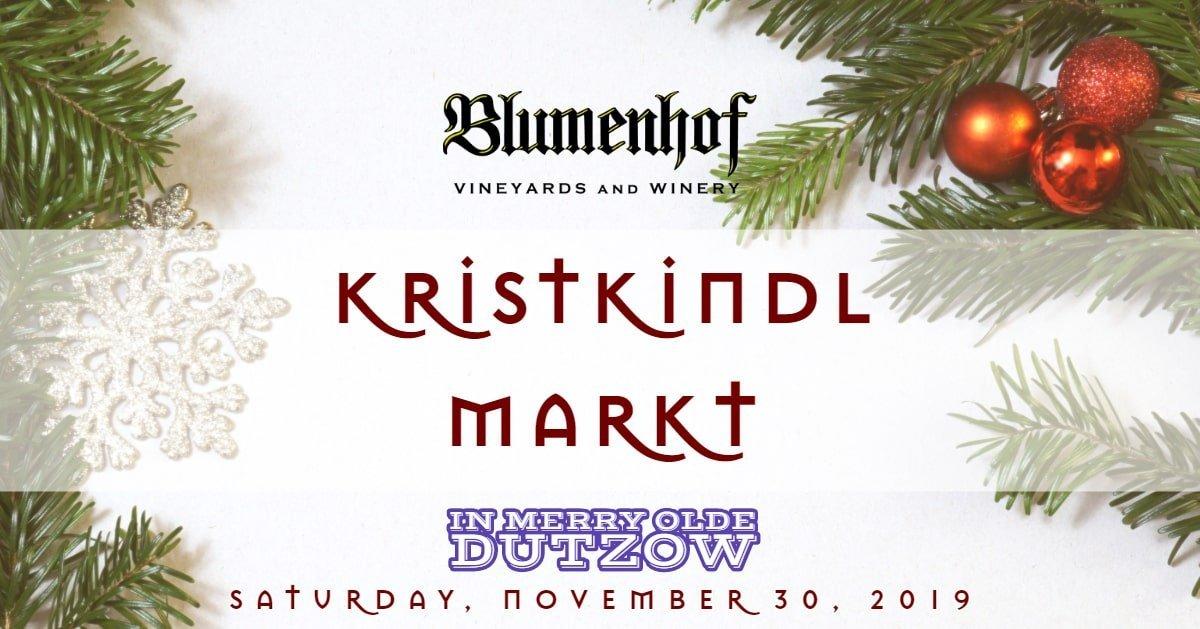 Kristkindl Markt 2019 at Blumenhof Winery in Dutzow, Missouri