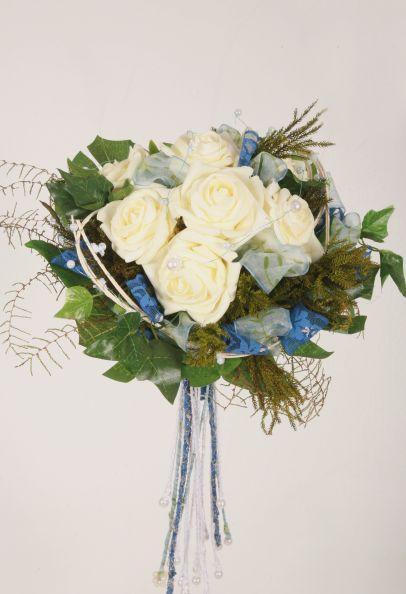 knstlicher Brautstrau  Blumenspezi