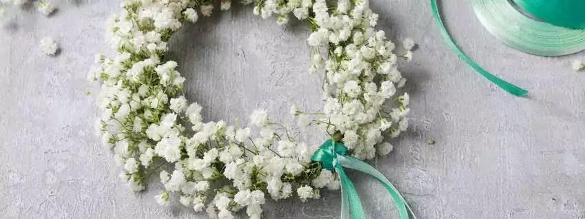 Haarkranz aus Schleierkraut selber machen  ein HochzeitsDIY  Blumigo