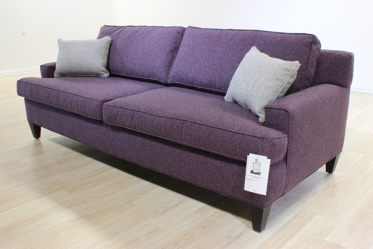 plum leather sofa wine throws sugar  blum 39s furniture co