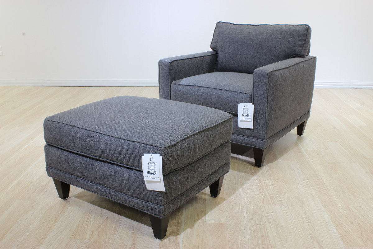 Soho Chair and Ottoman  Blums Furniture Co