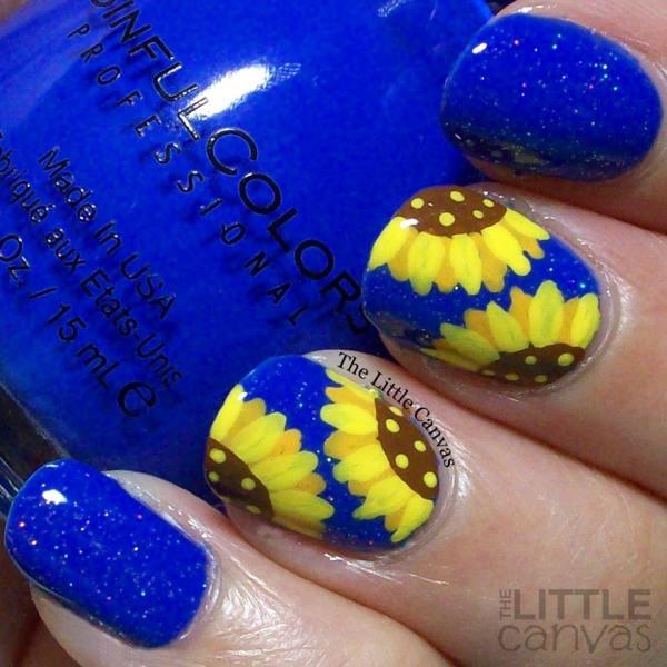 Amazing Sunflower Nail Art Design Summer 2017 - Blurmark
