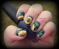 88 Amazing Sunflower Nail Art Design For This Summer 2017 ...