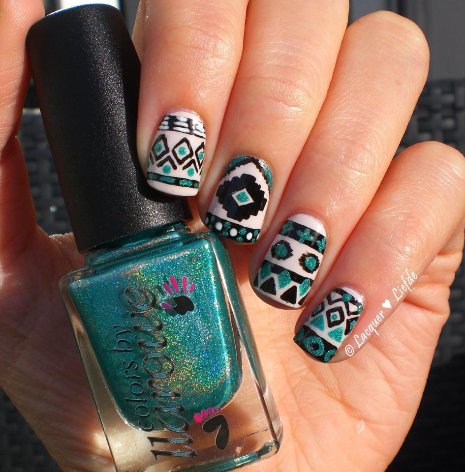 Here Are 84 Cute And Colorful Tribal Nail Art Design Ideas That You Can Use On Your Nails To Give A New Style