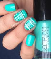 cute & colorful tribal nail