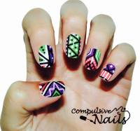 tribal nail design cute tribal nail design 84 cute ...