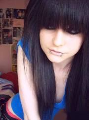 stunning long emo hairstyles