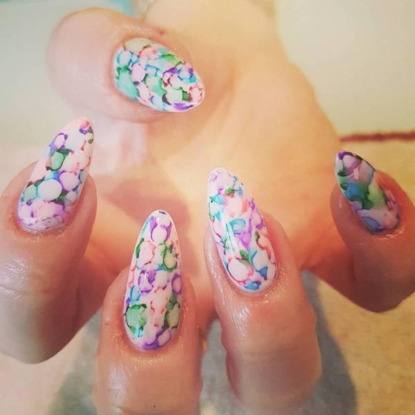 Fantastic Sharpie Nail Art Design Spring