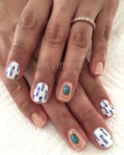 smart boho chic wedding nails