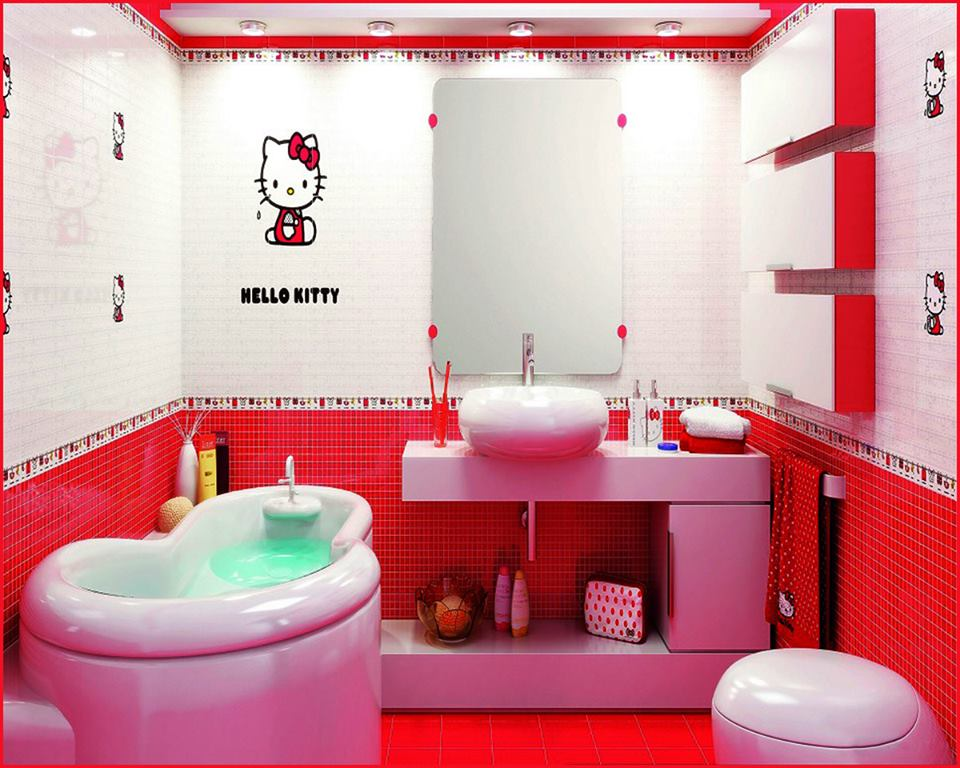 Cute Girly Patterns Wallpaper 50 Cute And Striking Kids Bathroom Decor For Fun Bathing Hours