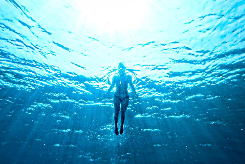 Underwater Woman Swimming