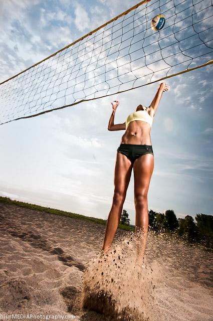 Beach Volleyball Spike - Under Armour and Lululemon Beach Volleyball Uniform Combination