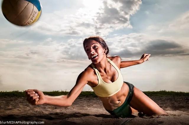 Beach Volleyball Dig - Under Armour and Lululemon Beach Volleyball Uniform Combination