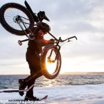 c_blurmediaphotography_jp_danko_mg_8153-edit, JP Danko, BlurMEDIA, Toronto Commercial Photography, fat bike, sun flare, snowshoeing