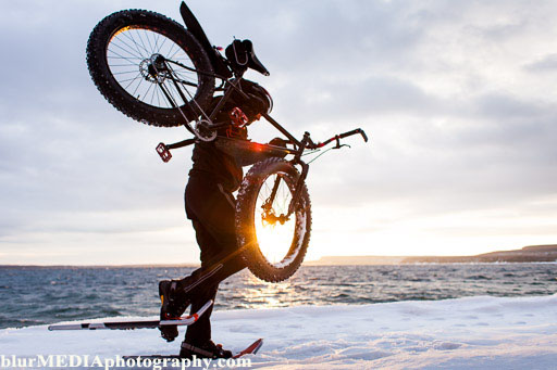 c_blurmediaphotography_jp_danko_mg_8153-edit, JP Danko, BlurMEDIA, Toronto Commercial Photography, fat bike, sun flare, snowshoeing