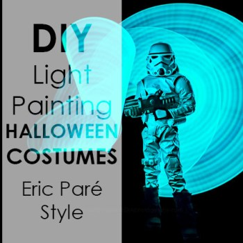 light painting halloween costume photos