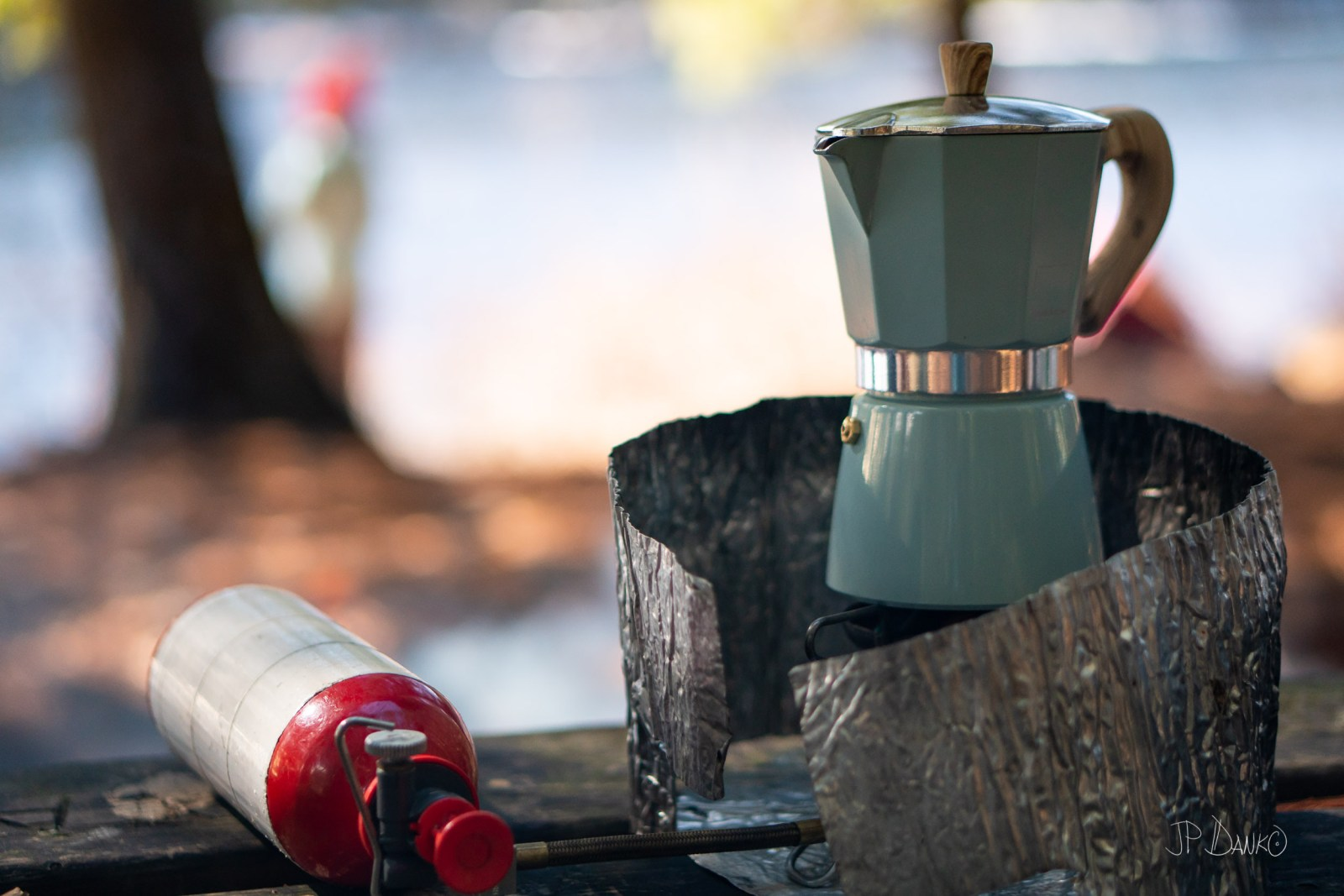 Morning Coffee Camp Stove Spring Canoe Trip Backcountry Wilderne