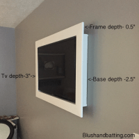 How to frame in a wall mounted tv - Blush and Batting Blog