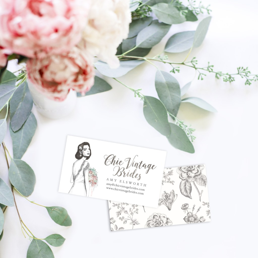 Business Cards - floral