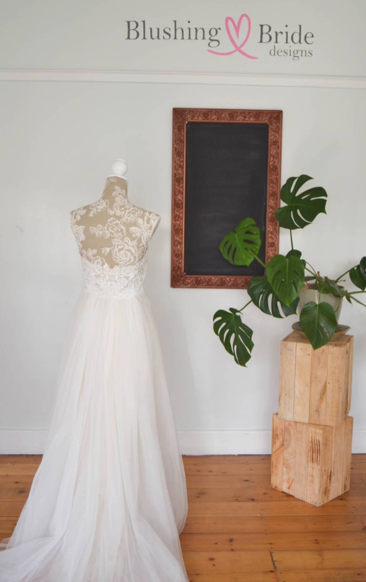 A line Heidi wedding dress