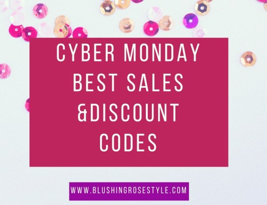 blogger Anna Monteiro of Blushing Rose Style rounding up the best sales on Cyber Monday