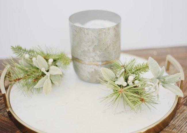 holiday home decor, marble tray,