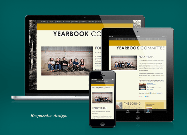 Responsive design looks good on all devices.